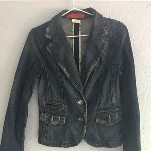 Anthropologie Level 99 Denim Jacket